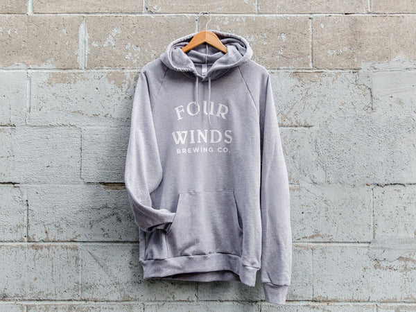 Heather Grey Hoodie (text Logo)