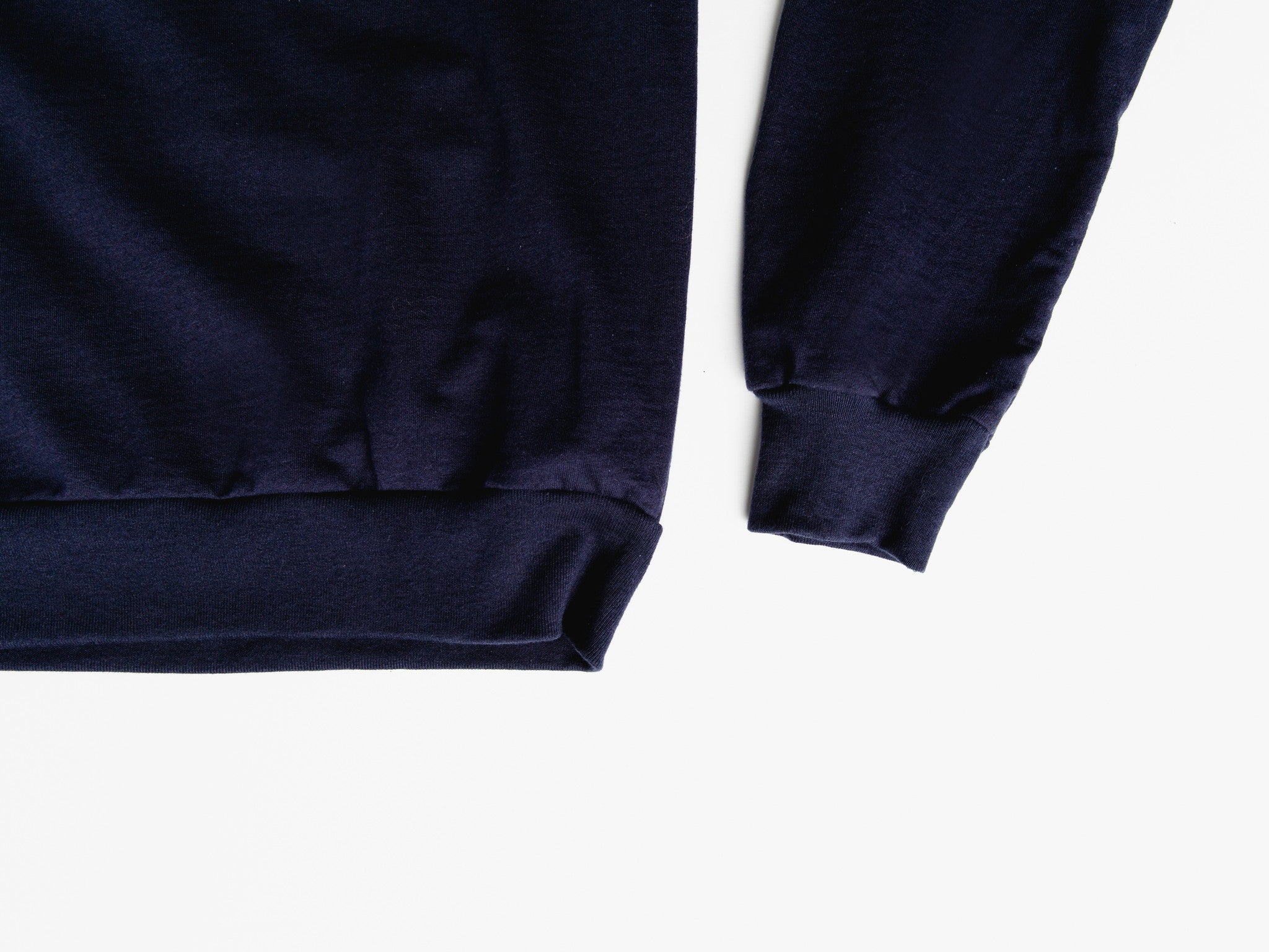 Navy Hoodie (text logo)