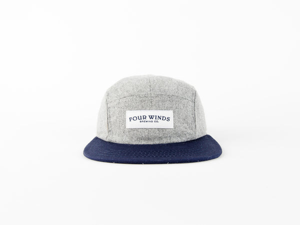 Grey 5 panel (text logo)