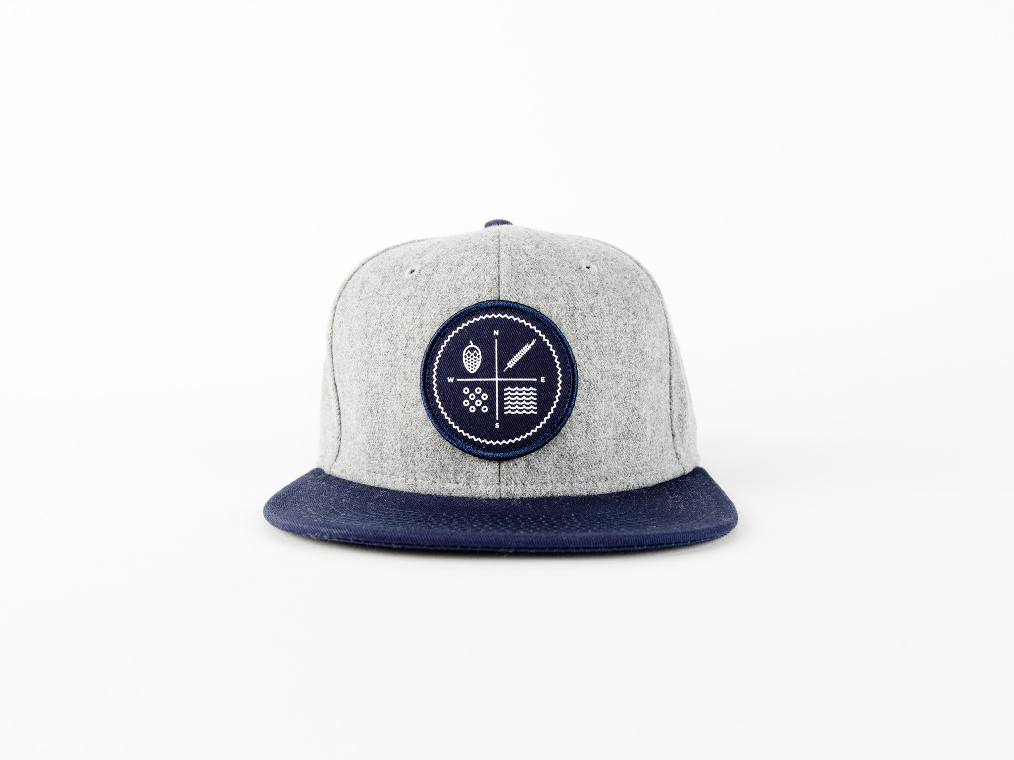Grey Snap Back Circle Logo (local Delivery)