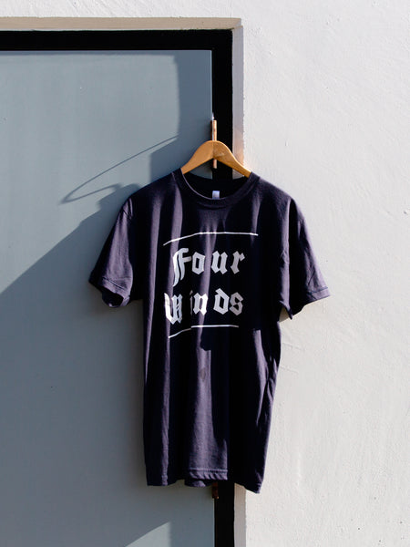 Navy Tee (text logo)