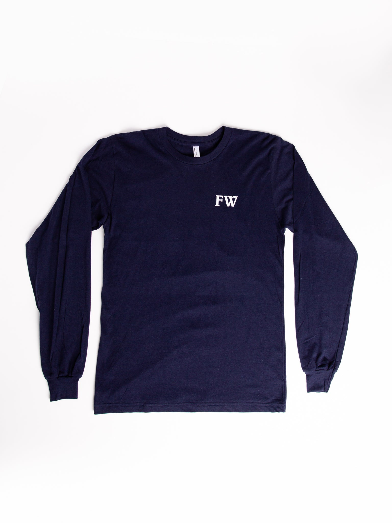 Blue Long Sleeve T (wind God logo on back)