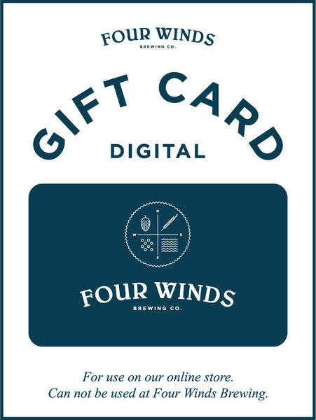 Digital Gift Card For Online Store Only