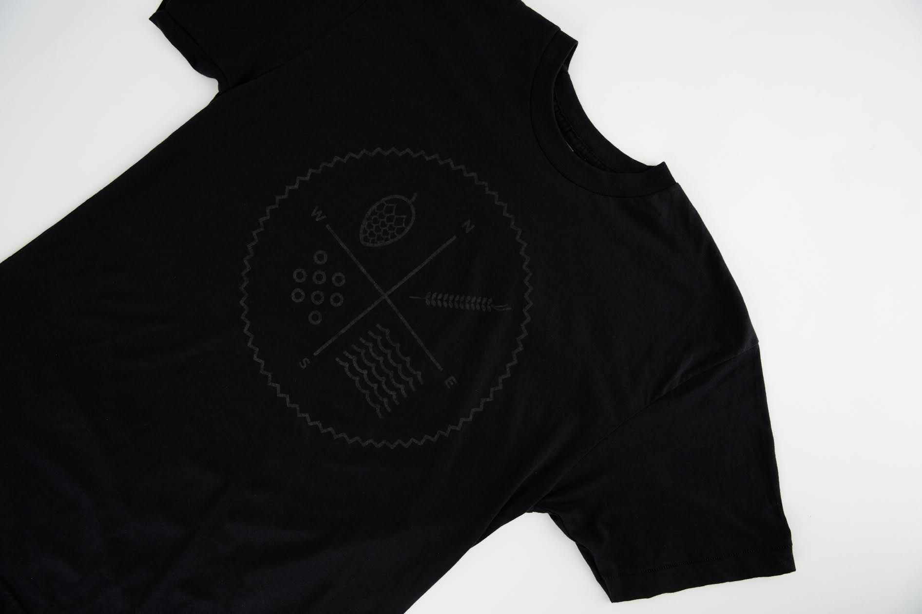 Black on Black Tee (circle logo)