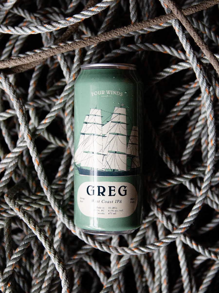 Greg West Coast IPA 6.5% 4 pack 473ML Cans (Local)