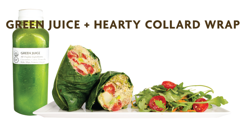 Meal Combo: Green Juice (12oz) + Hearty Wrap