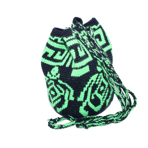 Women's Tote Bag with Green Turtle Design