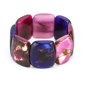 Purple Statement Bracelet - Tagua Nut Eco-friendly Jewelry