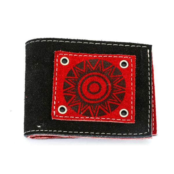 Men's Suede Leather Wallet - Black Exterior
