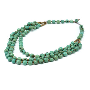 Mint Green Acai Seed Beaded Necklace Natural Jewelry