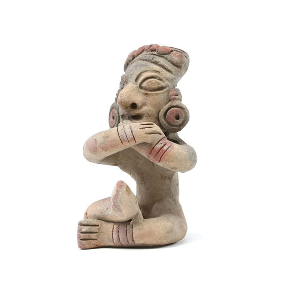 Andean Shaman Sculpture Crossed Arms (Pre-Colonial Replica)