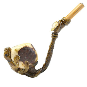 Vegetable Ivory Bowl - Lizard Smoking Pipe