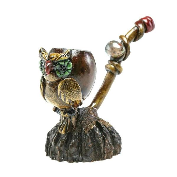 Andean Walnut Base - Owl Smoking Pipe