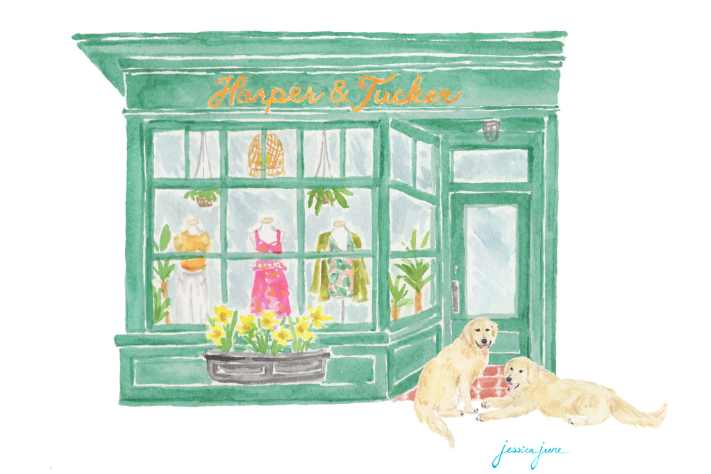 Jessica-June Storefront Watercolor