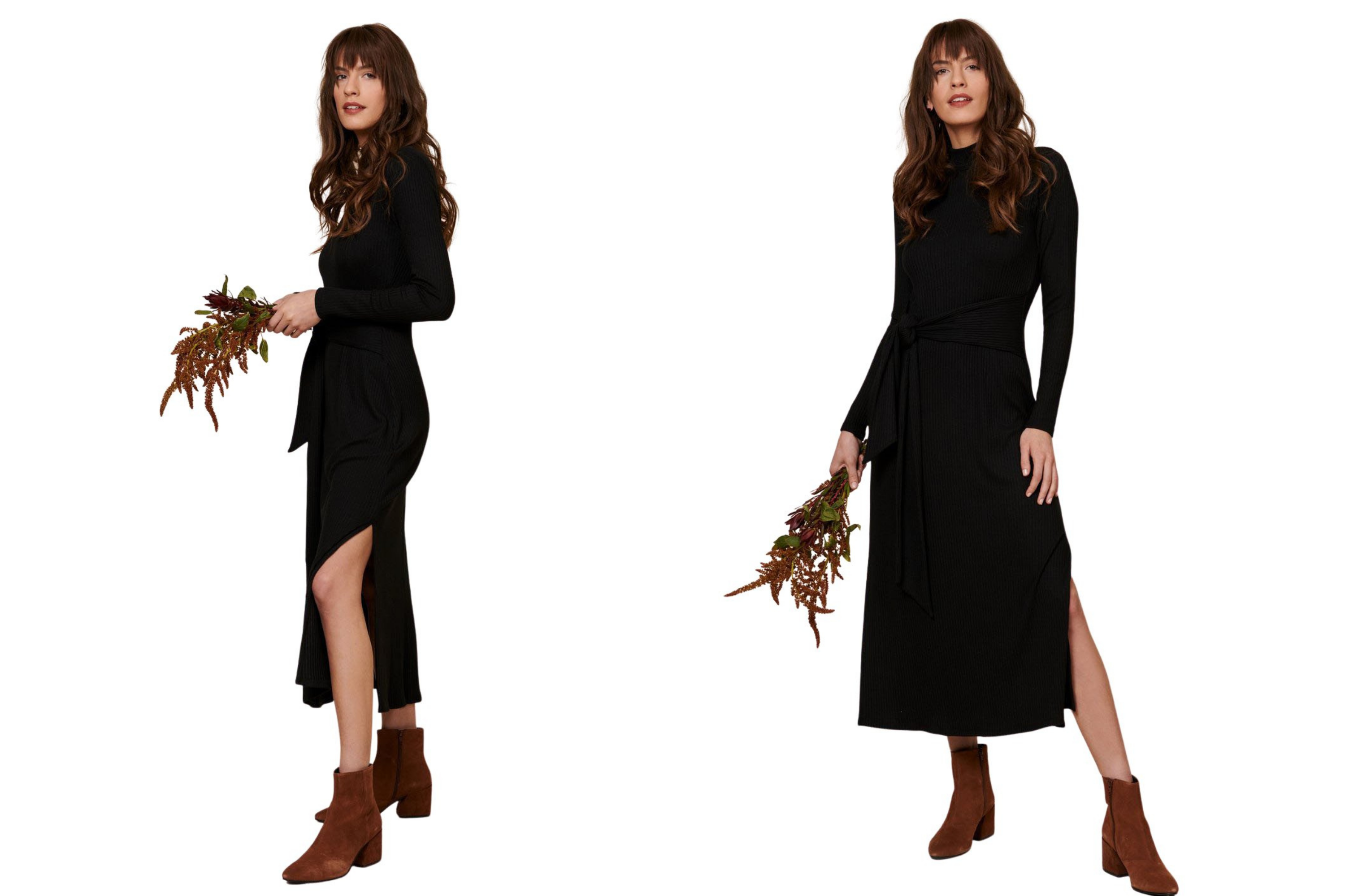 Whimsy + Row Black Joan Dress