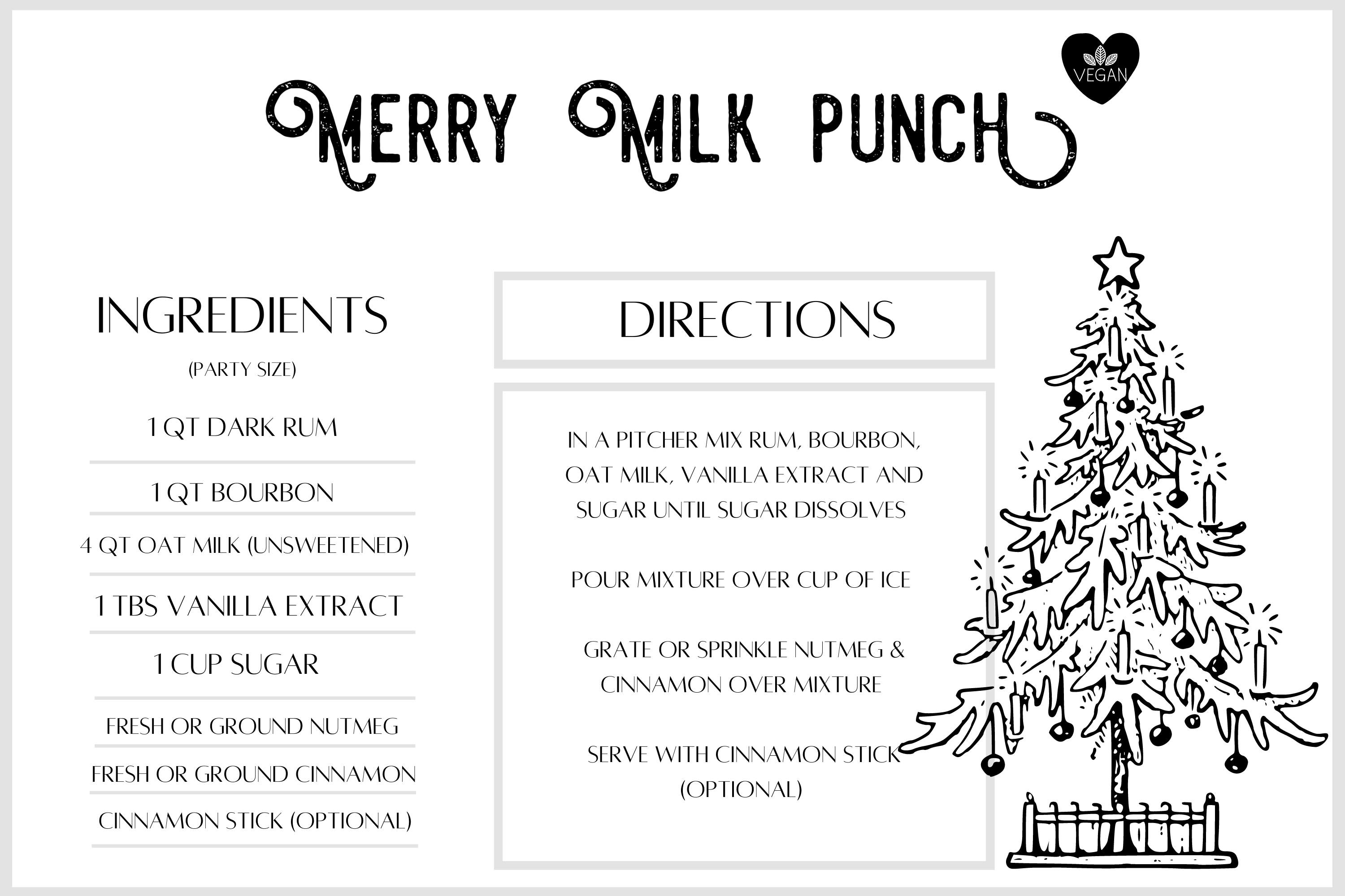 Merry Milk Punch