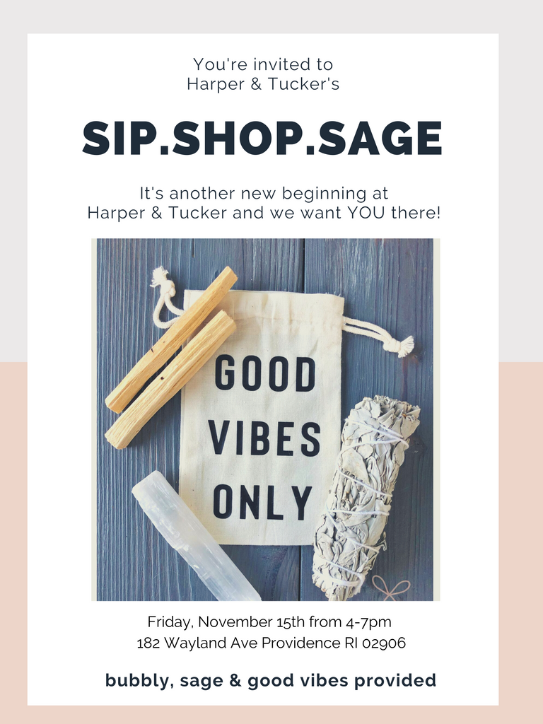 harper and tucker sage sip shop flyer