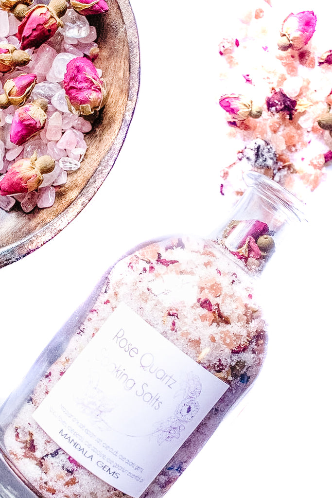 Rose Quartz Soaking Salts