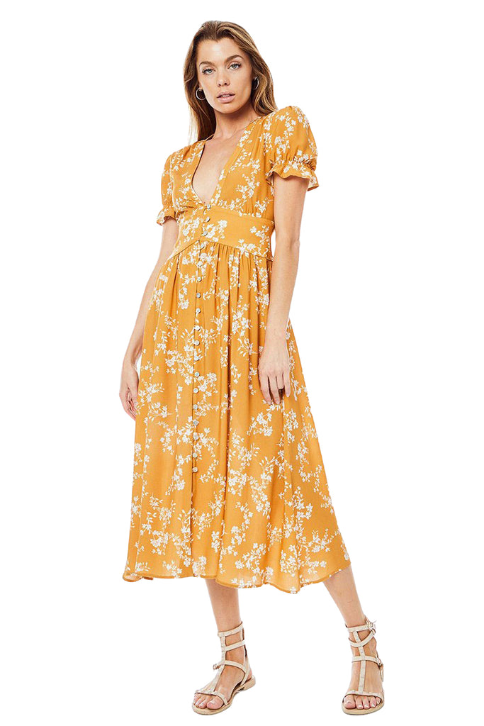 Abby Roxanne Midi Dress - Front
