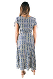 Java Azure Almudena Wrap Dress
