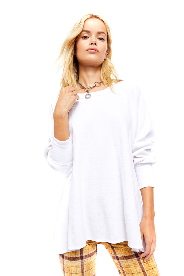 Free People Painted White Amelia Thermal