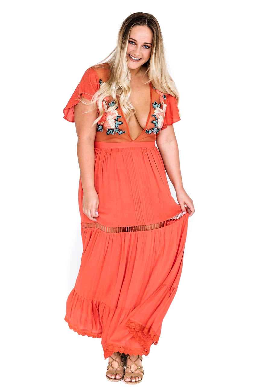 Coral Amery Maxi Dress