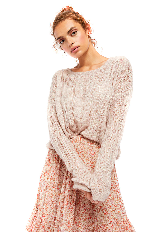 Free People Neutral Angel Soft Pullover