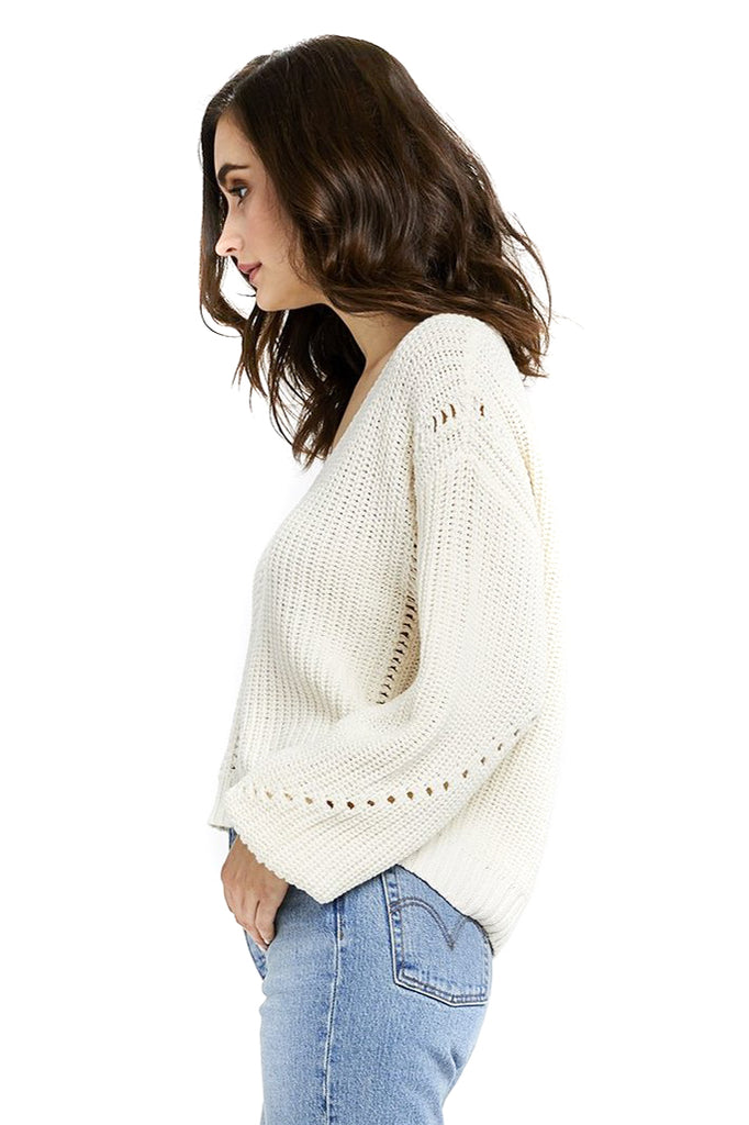 Ivory Arizona Pullover - Side