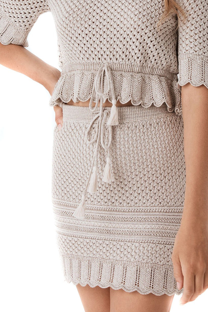 Spell & The Gypsy Collective Shell Atlantic Crochet Skirt - Close Up