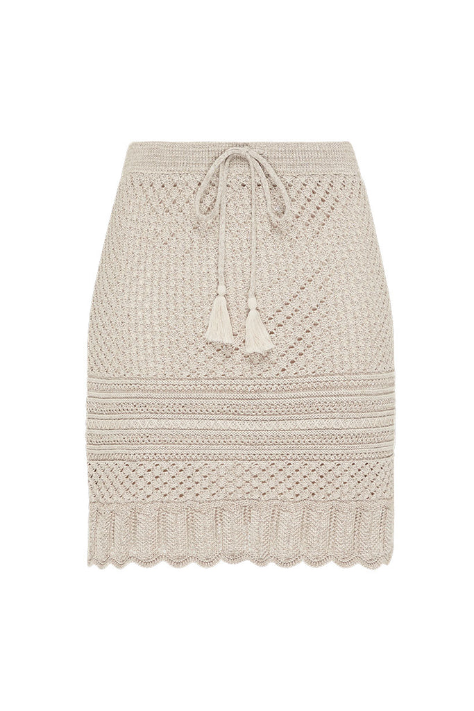 Spell & The Gypsy Collective Shell Atlantic Crochet Skirt - Flat Lay Front