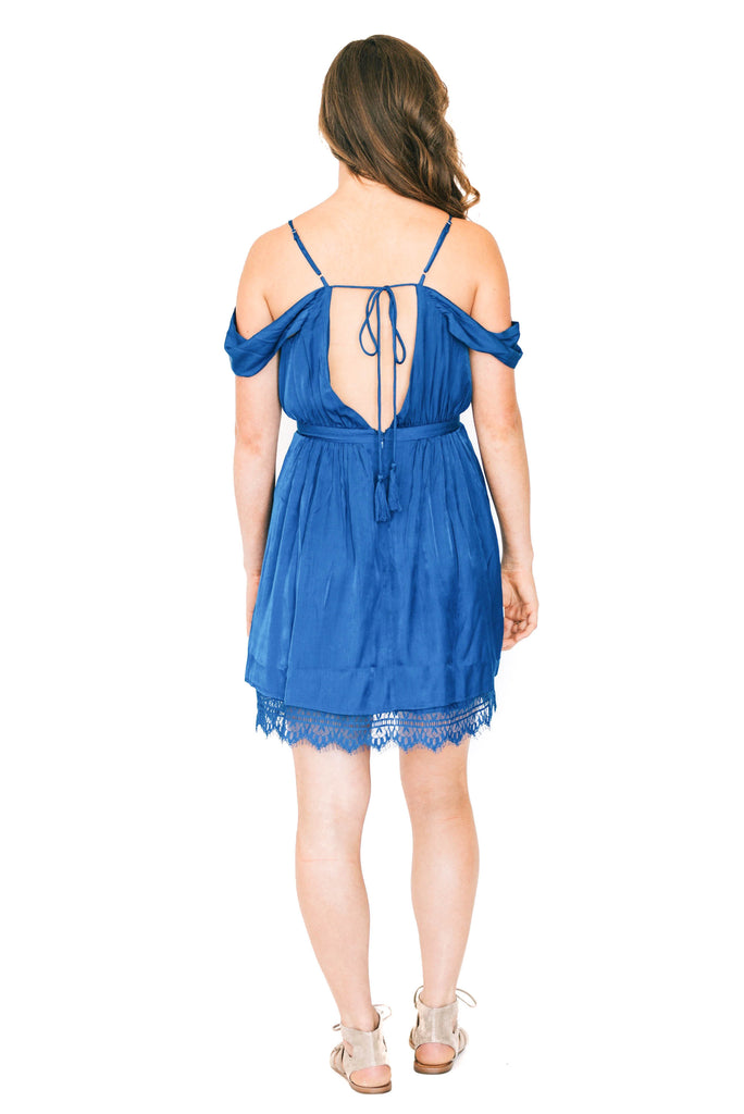 jetset diaries blue mini dress back photo