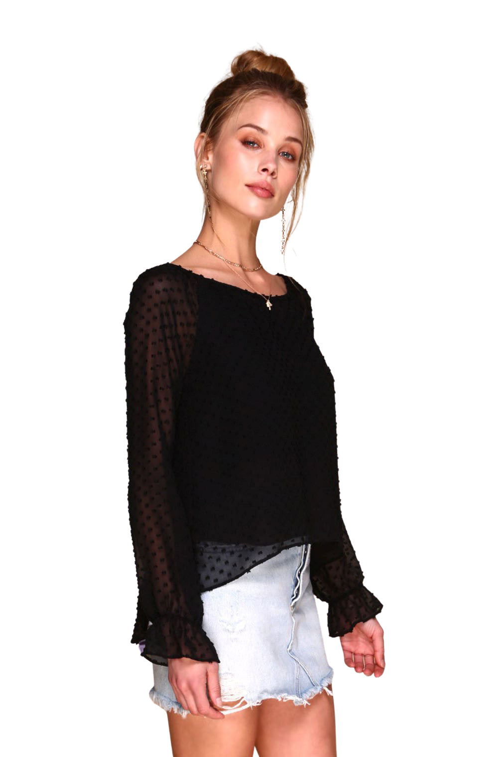 Black Corvette Blouse - Front