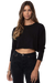 Black Long Sleeve Boyfriend Crop Tee