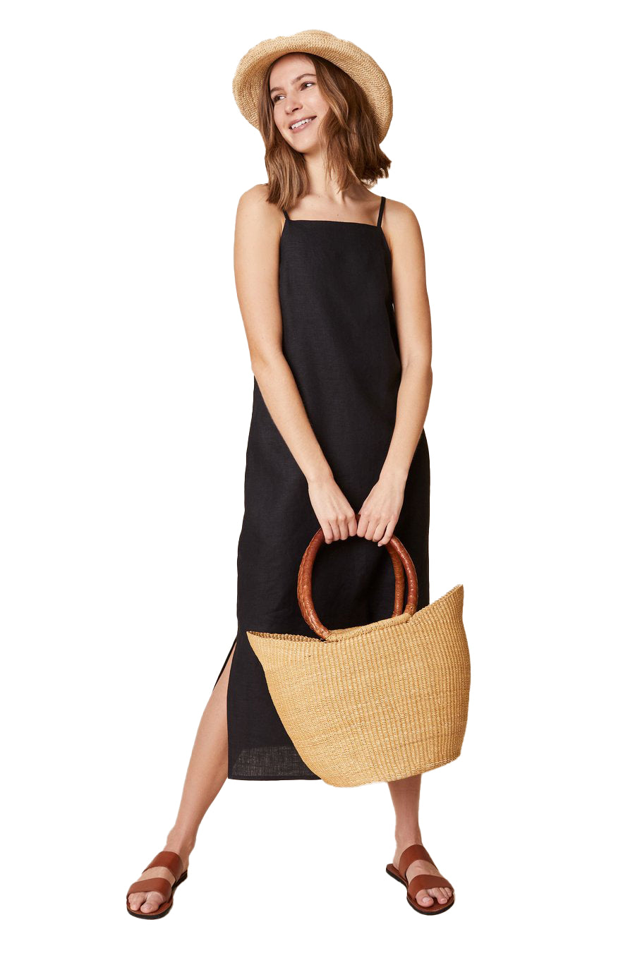 Black Loni Shift Dress - front