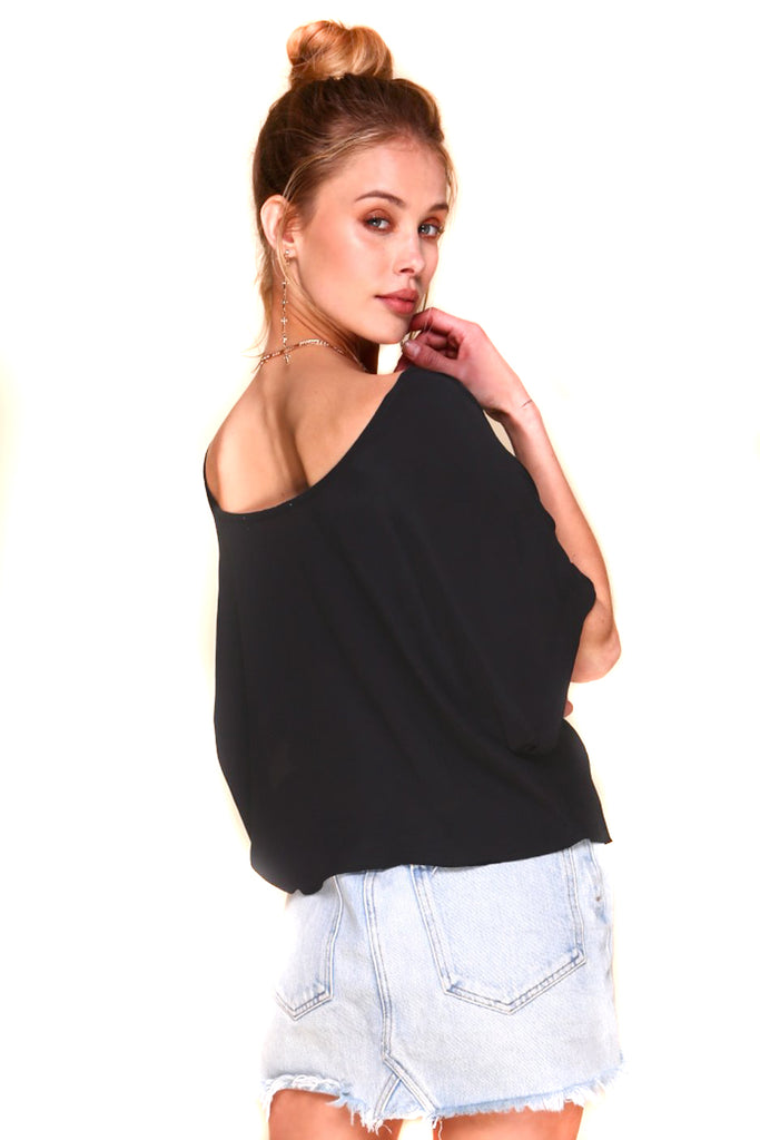 Black Colt Blouse Back