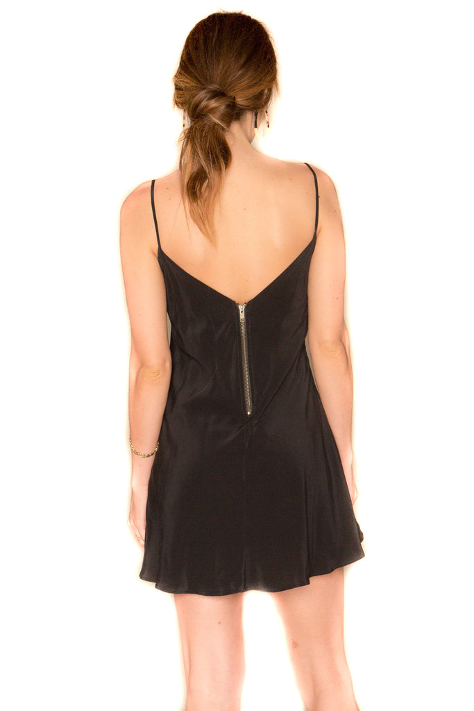 Black Inca Dress Back