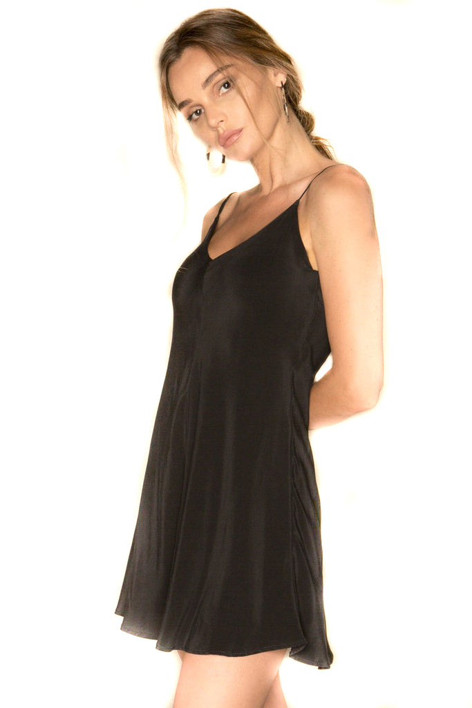Black Inca Dress Side