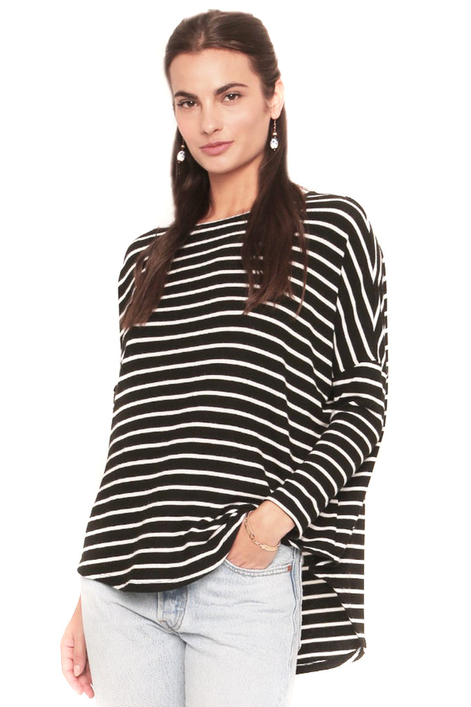 Black & White Stripe Tom Sweater