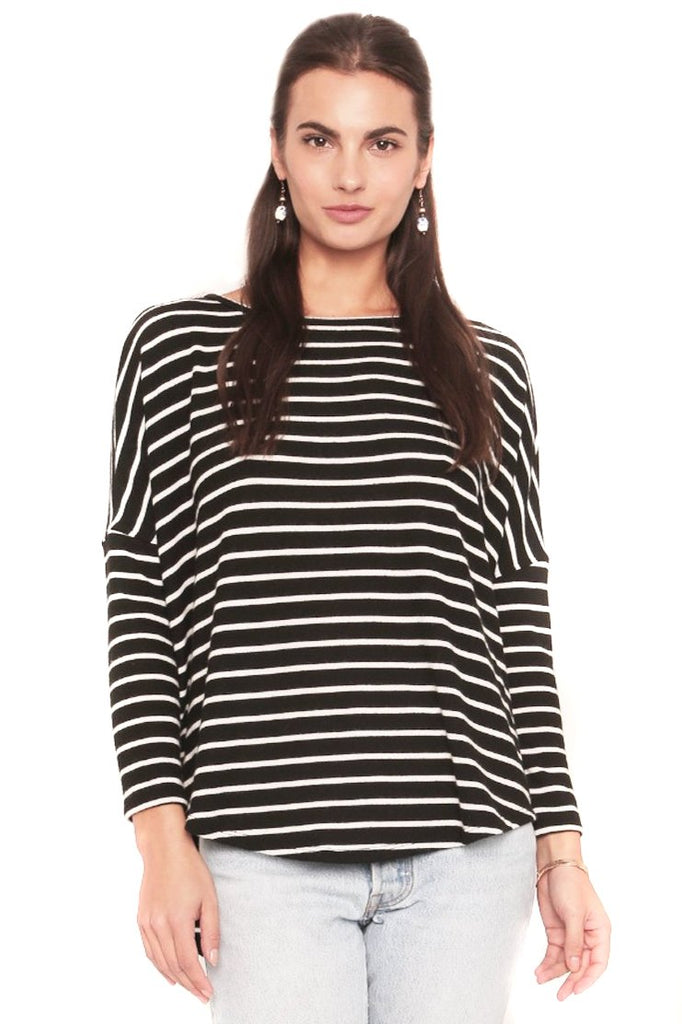 Black & White Stripe Tom Sweater Front