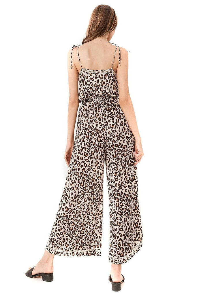 Spell & The Gypsy Collective Bodhi Leopard Jumpsuit back view