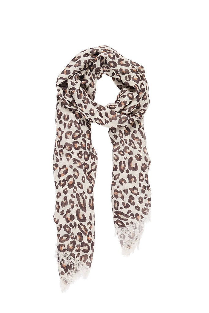 Spell & The Gypsy Collective Bodhi Leopard Travel Scarf - Flay Lay