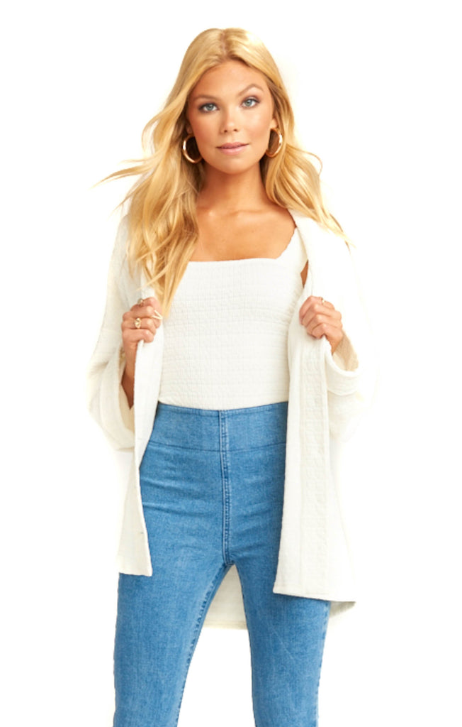 show me your mumu brady knit cream brit cardigan