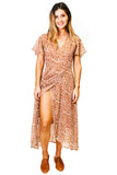 Dusty Rose Buona Sera Wrap Dress