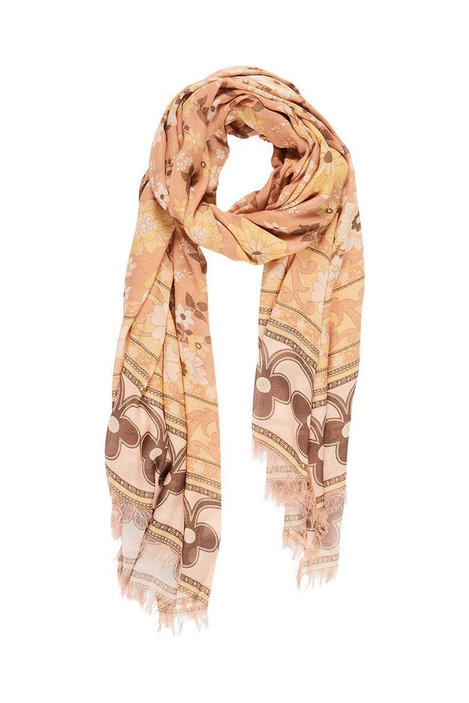 Spell & The Gypsy Collective Sunrise Buttercup Travel Scarf - Flay Lay