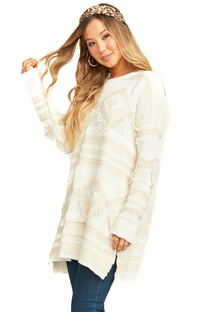 Show Me Your Mumu Cream Knit Canyon Sweater - Side