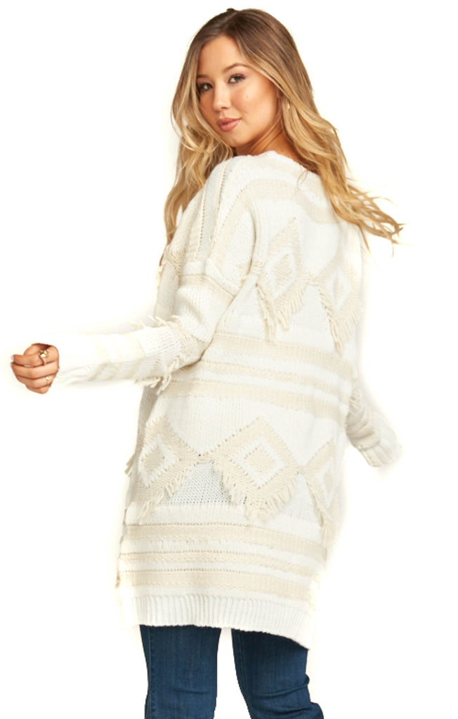 Show Me Your Mumu Cream Knit Canyon Sweater - Back