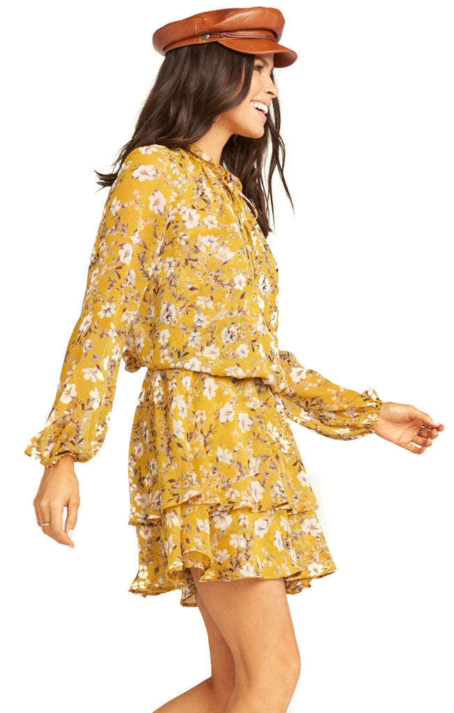 side of show me your mumu flirtin floral channing dress