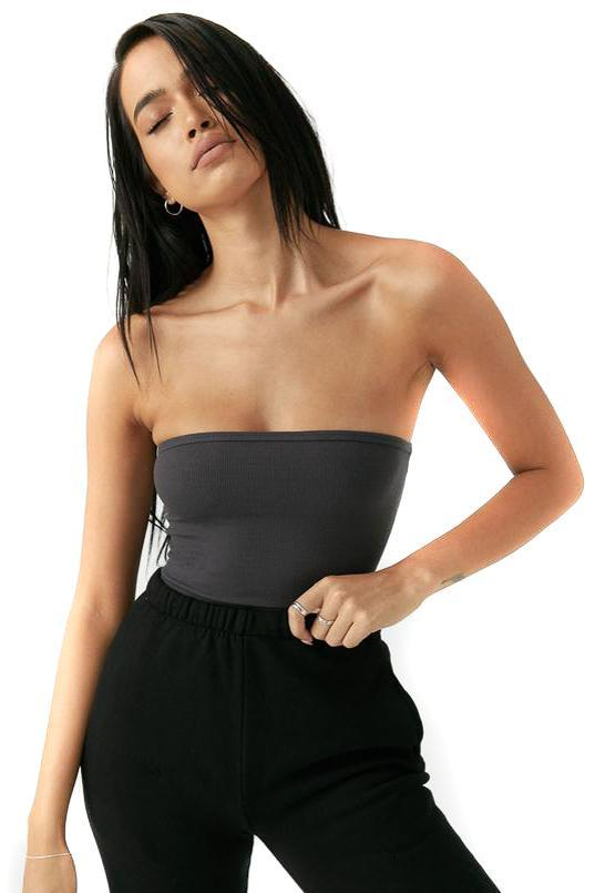 Joah Brown Charcoal Tube Top