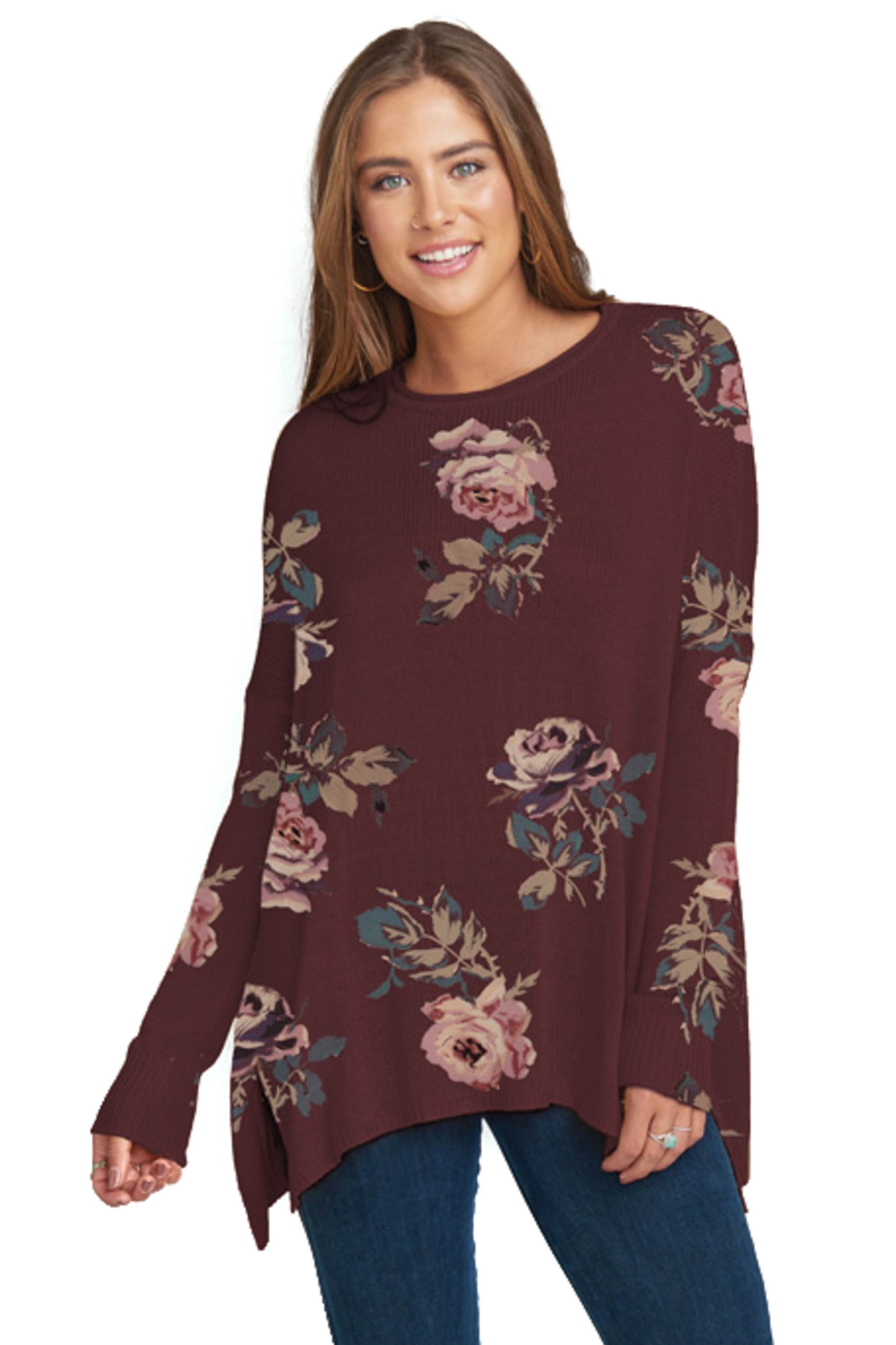 Chocolate And Roses Bonfire Sweater