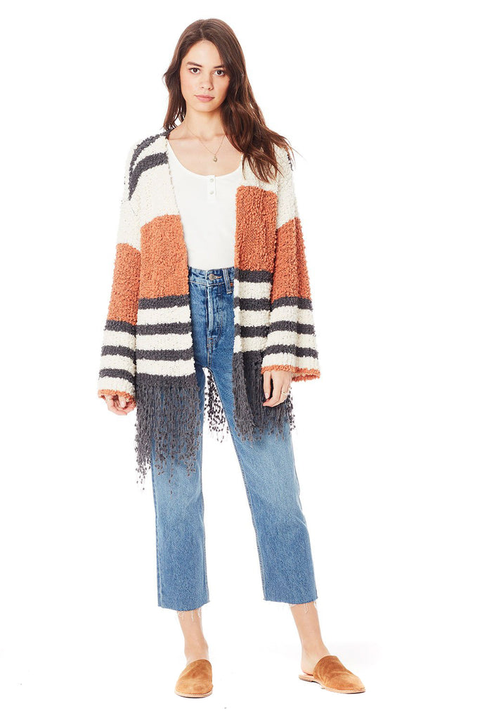 Clay Stripe McKenna Sweater - front